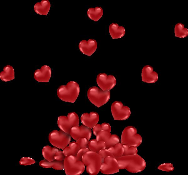 Pioggia di cuori for Immagini di cuori rossi